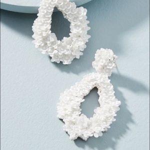 Anthropologie Florette Drop Earrings, White